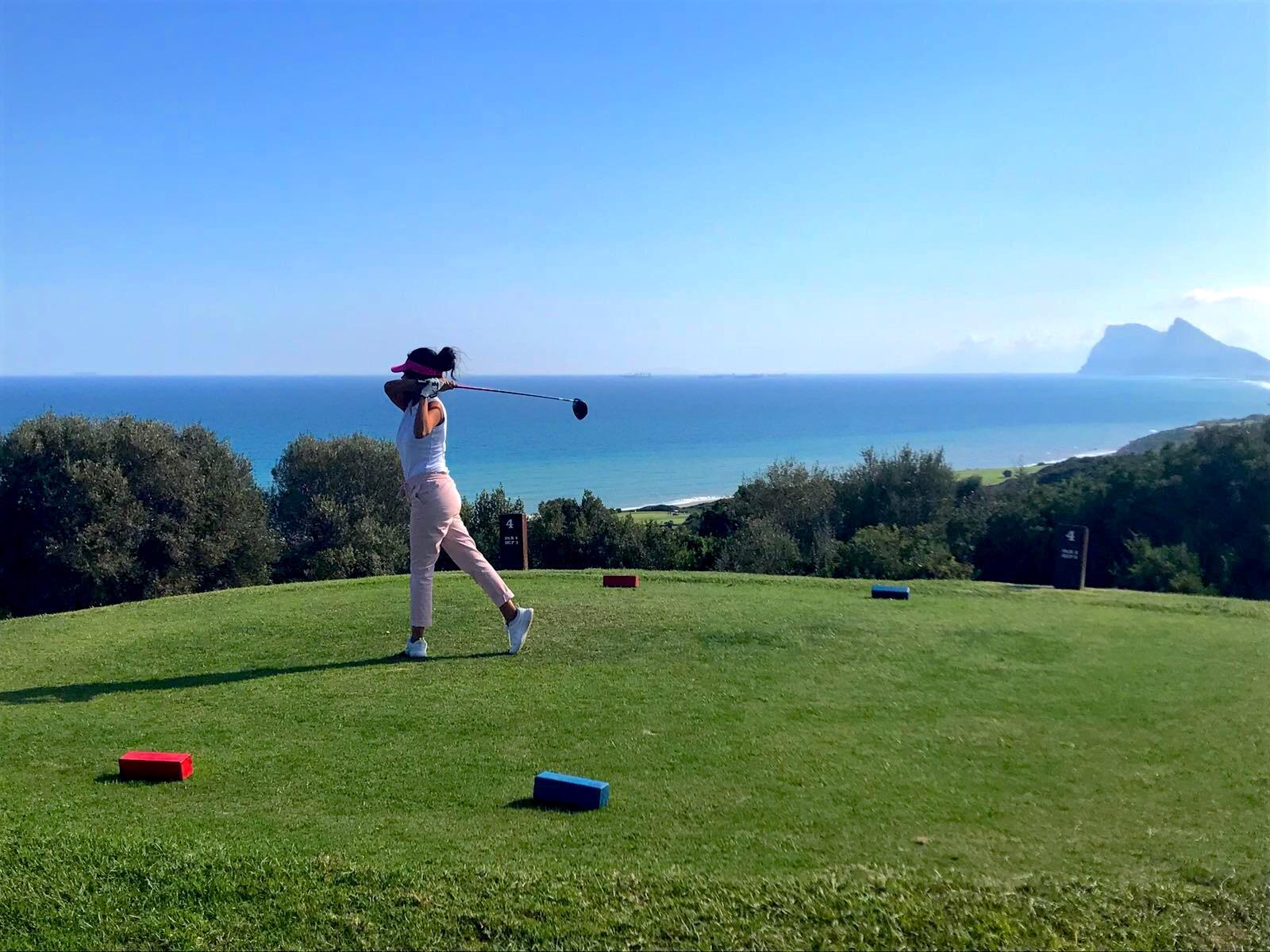 Costa del Sol Woman Golfing